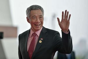 Singapore's Prime Minister Lee Hsien Loong arrives at the Hangzhou International Expo Center to attend the G20 Summit in Hangzhou on Sept 4, 2016.