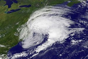 Tropical Storm Hermine is pictured off the east coast of the mid-Atlantic United States in a photo taken from a NASA satellite.