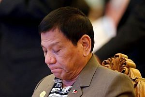 "Philippine President Rodrigo Duterte at a welcome dinner at the Asean summit in Vientiane, Laos, on Tuesday. Political analyst Richard Heydarian believes the Philippines is ""entering a new normal relationship with the US: still strong, but no longer"