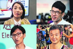 Not all localists voted into the Legco think Hong Kong should break away from China. Clockwise from top left: Lau Siu Lai, Nathan Law, Raymond Chan and Eddie Chu.
