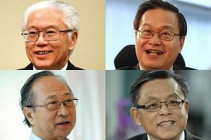 The four 2011 presidential candidates (clockwise from top left) Dr Tony Tan Keng Yam, Mr Tan Kin Lian, Mr Tan Jee Say and Dr Tan Cheng Bock.
