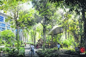 One of five Tengah public housing districts, Forest Hill district will be surrounded by the forest corridor and the town's central park.