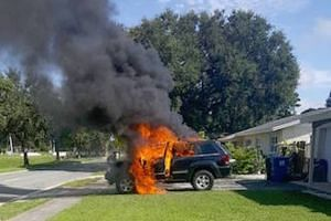 Mr Nathan Dornacher said his jeep was set on fire after the Samsung Galaxy Note7 that was left charging in the vehicle ignited on Sept 5, 2016.