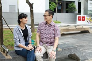 "Mr Victor Ng, who is self-employed, supports his daughter during the exam period by fetching her from school, cooking ""good food"", and making sure she gets enough rest. Miss Shanice Ng, who will sit the A levels this year, spends a few hours revising"