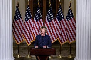 With election day looming, and the race still tight, Mrs Clinton on Saturday went into damage limitation mode over her remarks about