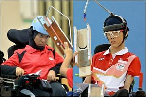 Team Singapore's boccia players Nurulasyiqah Mohammad Taha (left) and Toh Sze Ning will compete with Greece for the bronze medal at the Rio 2016 Paralympic Games.