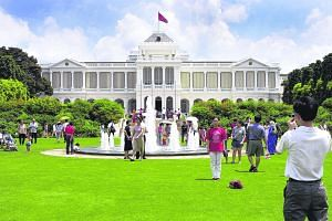 """An open house at the Istana. Panellists at The Straits Times roundtable discussion addressed a key upcoming change to a set of provisions in the Constitution that """"entrench"""", or protect, the presidency by making it difficult for Parliament to amend t"""