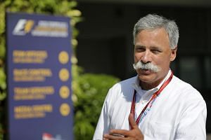 Formula One owner Chase Carey arriving for the Singapore Airlines Singapore Grand Prix at the Marina Bay Street Circuit on Sept 18, 2016.