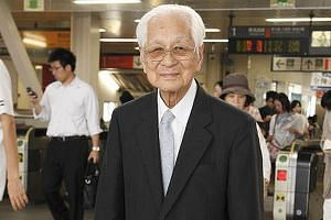 Mr Fukutaro Fukui, 104, used to make a one-hour commute into central Tokyo daily, until he retired three years ago from his job as a clerk at a lottery sales broker.