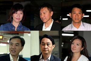 The six City Harvest Church leaders (from top left) Sharon Tan, Kong Hee, Tan Ye Peng, John Lam, Chew Eng Han and Serina Wee.