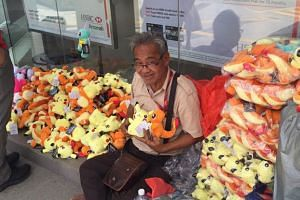 Malaysians have been helping David Christopher by buying his soft toys.