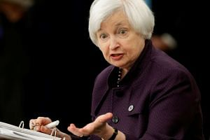 United States Federal Reserve chair Janet Yellen holds a news conference following the two-day Federal Open Market Committee meeting in Washington.