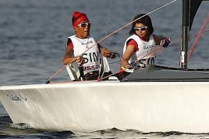 Jovin Tan and Yap Qian Yin were unable to complete their participation in the keelboat competition after rough conditions forced them to pull out. Yap says the decision, albeit trying, has helped her grow.