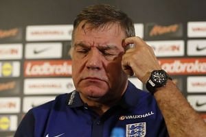 England football manager Sam Allardyce as he takes part in a press conference at St George's Park, near Burton-on-Trent, central England.