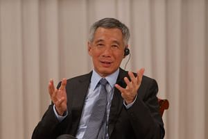 PM Lee Hsien Loong speaking at the Special Session of the Nikkei 22nd International Conference on the Future of Asia, at Imperial Hotel, Tokyo, on Sept 29, 2016.