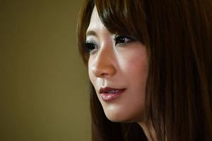 Japanese actress Saki Kozai speaking during an interview with Agence France-Presse (AFP) in Tokyo.