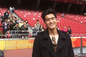 Nathan Hartono at the Bird's Nest in between rehearsals on Thursday (Oct 6).