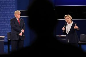 The town hall-style debate on Monday (Oct 10), between Democrat Hillary Clinton and Republican Donald Trump, featured about half the questions coming from uncommitted voters screened by Gallup, with the rest posed by moderators Martha Raddatz of ABC