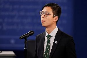 """Mr Kenneth Sng, president of the Washington University in St Louis student body, said speaking before the presidential debate """"was really quite scary""""."""