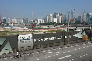 Site of the Tun Razak Exchange financial district project in Kuala Lumpur, on Feb 12, 2015.