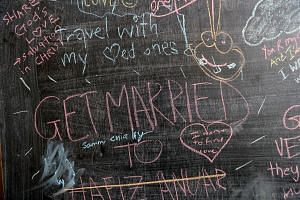 Some of the things people wrote for the Before I Die project.
