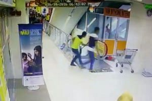 A screengrab from a CCTV footage showing the incident.