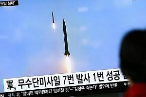 South Koreans watch North Korea failed missile launch. Japan may accelerate around US$1 billion (S$1.4 billion) of planned spending to upgrade its ballistic missile defences in the wake of rocket tests.