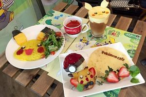 A selection of the food and drink items that were sold at the Pokemon cafe.