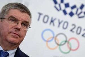 IOC president Thomas Bach speaking to media after a meeting with the 2020 Tokyo Olympics Organising Committee in Tokyo, on Oct 19, 2016.