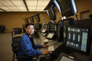 Air traffic controller Anthony Ang.