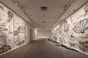 Qiu Zhijie's work titled One Has To Wander Through All The Outer Worlds To Reach The Innermost Shrine At The End.