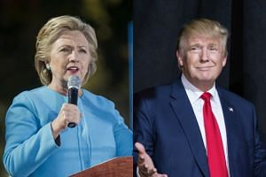 Hillary Clinton (left) and Donald Trump launched their two-week scramble to the finish line of the US presidential race, with the billionaire Republican dismissing the polls to insist he's