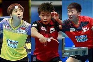 (From left) Zhou Yihan, Lin Ye, and Zeng Jian will anchor the women's team for the next two Olympic cycles (2020 and 2024) while the association brings through a new generation of Singapore-born players.