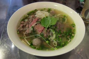 Beef pho from Mrs Pho, a Vietnamese restaurant along Beach Road.