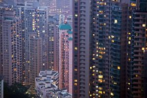 Residential buildings in the Mid-levels area of Hong Kong on May 4, 2013.