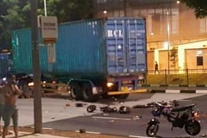 Two men died and one other was injured in a road accident late on Thursday (Oct 27) night.