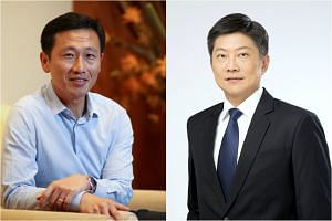 Mr Ong Ye Kung (left) and Mr Ng Chee Meng have been promoted to full ministers in the latest round of Cabinet changes announced on Friday (Oct 28).