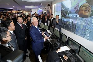 Mr Najib at the launch of Huawei's Customer Solution Integration and Innovation Experience Centre in Kuala Lumpur last week. Huawei was recently appointed adviser to the Malaysian government on information and communication technology projects, said
