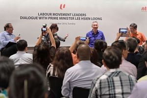PM Lee Hsien Loong at the dialogue with some 300 labour leaders on Tuesday (Nov 1).
