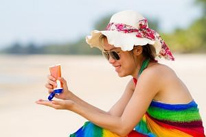 Applying sunscreen once every two hours when one is outdoors is encouraged.