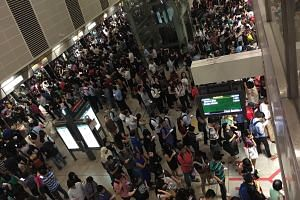A signal fault caused delays and long commuter queues at stations along the Circle Line.