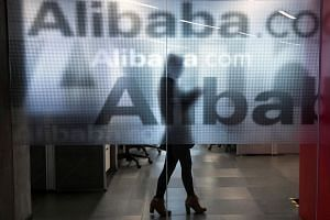 Alibaba's core commerce revenue rose 41 per cent to 28.5 billion yuan while sales from the new digital media and entertainment division quadrupled to 3.6 billion yuan.