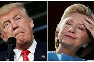 US presidential candidates Donald Trump and Hillary Clinton.