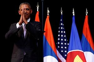 President Obama putting his hands together before bowing at the end of his address on the sidelines of the Asean Summit in Vientiane, Laos, in September. While his presidency has seen significant engagement with the 10-nation bloc, much could change,