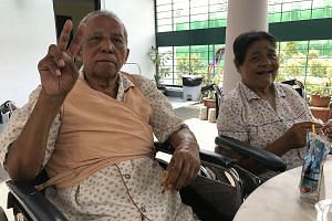 Mr Abu and his wife, Madam Nashua, who have been married for 54 years, were forced to live apart for about 11/2 years in different nursing homes due to a shortage of beds.
