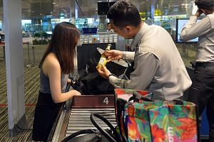 Between January and September, 1.13 million items which were liquids, gels and aerosols were confiscated at Changi Airport.