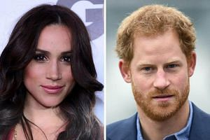 """Prince Harry (right) confirmed his relationship with American actress Meghan Markle (left) in an unusual statement on Tuesday (Nov 8), when he attacked the """"racial undertones"""" of British news coverage and social media harassment of his new girlfriend"""