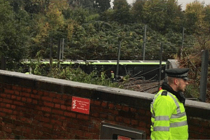 Media reports say five people have been trapped and 40 others injured after the tram overturned in a tunnel.