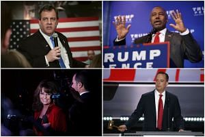 Some of the names put forward for US President-elect Donald Trump's cabinet include (clockwise from left) Chris Christie, Ben Carson, Reince Priebus and Sarah Palin.
