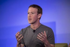 Mark Zuckerberg, chief executive officer and founder of Facebook Inc., gestures as he speaks during a session at the Techonomy 2016 conference in Half Moon Bay, California, US on Nov 10, 2016.